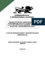 PLAN DE PREPARACIONES Y RESPUESTAS ANTE EMERGENCIAS