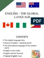 ENGLISH – THE GLOBAL LANGUAGE 3