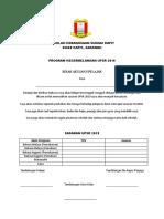 akujanji pelajar upsr 2019