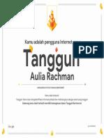 Google Interland Aulia Rachman Sertifikat Ketangguhan