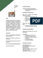 Curriculum Vitae - Oscar Molina Salgado
