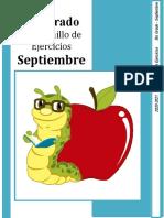 5to Grado - Cuadernillo de Ejercicios (septiembre)