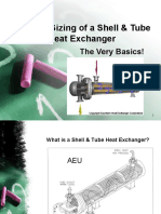 2. Thermal Sizing of a S&T Exchanger
