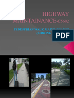 Chapter 5 - Pedestrian Walk Maintenance