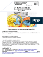 TALLER RECUPERACION EDUCACION FÍSICA GRADO 9º1 - 9º2 - 9º3