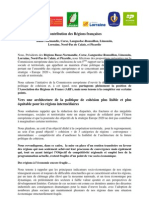 Contribution des régions françaises pour défendre une catégorie intermédiaire