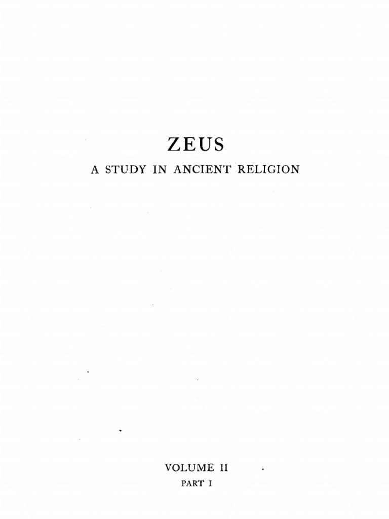 Zeus A Study In Ancient Religion Vol Ii Part I Cook Axe British Museum
