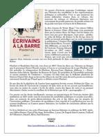 Ecrivains à La Barre Plaidoiries_Balland_2020