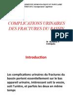 COMPLICATIONS URINAIRES DES FRACTURES DU BASSIN.ppt