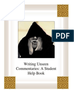 Writing Unseen Commentaries -  WordSmith 2007