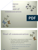 The purpose goals and component of communication lesson three