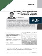 Bardales, Luis - Un intento fallido de trasplante legal Los punitive damage por despido arbitrario