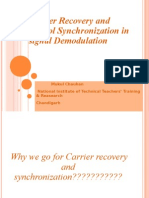 Carrier Recovery and Symbol Synchronization in signal demodulation