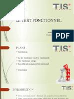 LE TEST FONCTIONNEL