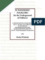 Michał Waliński W podziemiu folkloru (rzecz o dowcipie)