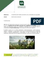 SOLICITUD DE COTIZACION MUSEO LA MEMORIA