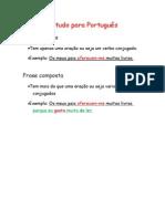 Estudo para Português