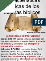 Características básicas de los idiomas bíblicos