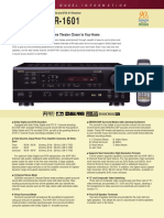 Denon AVR 1601 Manual