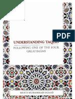 Understanding Taqleed by Mufti Muhammad Sajaad