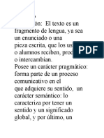 El Texto- Tarea 2- Español 2