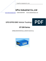 GT200 operation and installation manual