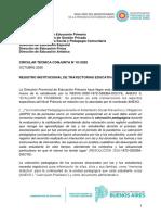 Circular Técnica N° 01 Oct 2020 - Registro institucional de Trayectorias educativas
