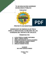 Estructura de informe grupal