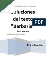 Soluciones Texto Barbarie