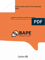Dossier du BAPE - Projet de construction d'un tramway à Québec