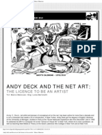 Digimag 52 - March 2010. Andy Deck and the net art