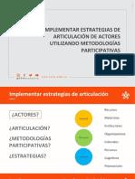 Presentación 03 - Implementar estrategias de Articulación