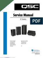 QSC K8 K10 K12 KSub Service Manual