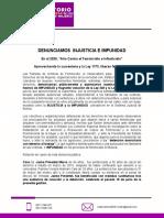 DENUNCIA PUBLICA - LIBERAN A FEMINICIDAS - VERSION FINAL QUE FUE A AUTORIDADES