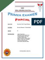 Primer Parcial Grupo D RR.HH y Prod UMSS