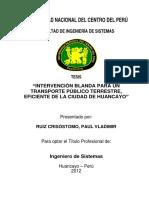 INTERVENCIÓN BLANDA PARA UN TRANSPORTE