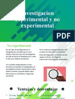 Experimental y No experimenta