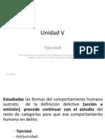 Unidad V_Tipicidad. -1