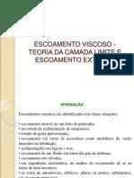 Escoamento viscoso-teoria da camada limite e escoamento externo final corr