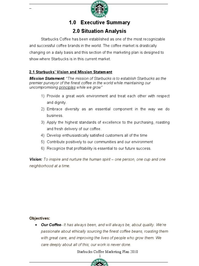 starbucks mission statement