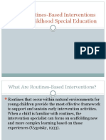 Using Routines-Based Interventions in Early Childhood Special Education