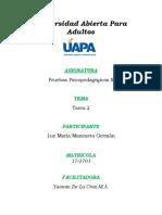 Pruebas Psicopedagógicas II - Tarea 2.docx