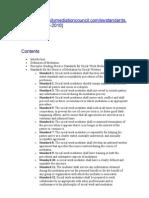Practice Standards for Social Work Mediation