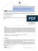 [24448656 - Applied Mathematics and Nonlinear Sciences] Comparison of Fractional Order Derivatives Computational Accuracy - Right Hand vs Left Hand Definition