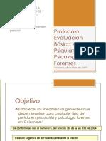 Protocolo básico metodologia de evaluacion psicologica y psiquiatrica forense