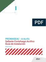Guía de Instalación - Sellador Promaseal-A
