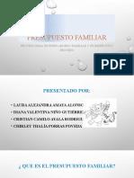 diapositivas de presupuesto familiar