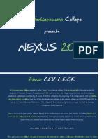 Nexus 2011 Sponsorship Proposal - Sri Venkateswara College