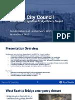 City Council Briefing on West Seattle Bridge