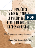 Estimación de datos faltantes de precipitación por el método de regresión lineal. FATIMA SOLIS 5CC